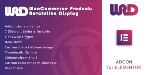 CodeCanyon - Woocommerce Products Revolution Display for Elementor WordPress Plugin v1.0 - 33982146