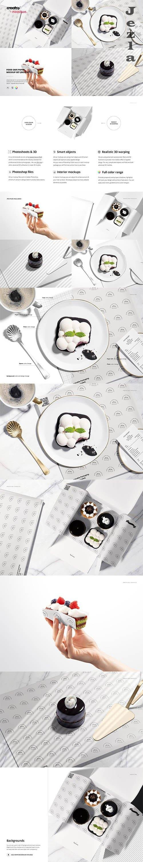 Food Safe Paper Mockup Set /desserts - 6417661