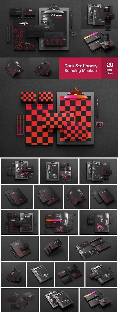 Dark Stationery Branding Mockup Set - 6475038