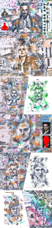 Collage Art Photoshop Action - 6535731