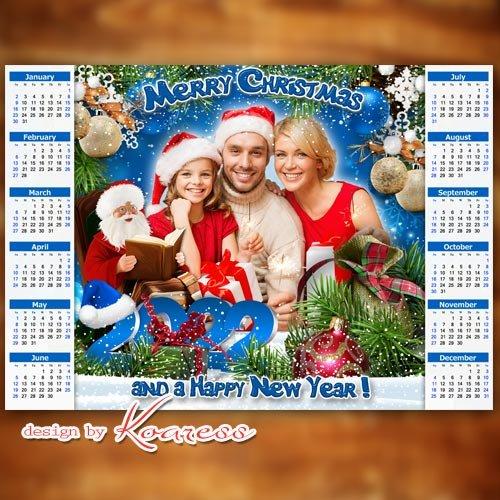 Merry Christmas and a Happy New Year calendar 2022 - Календарь на 2022 год С Новым Годом