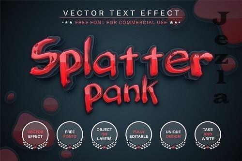 Splatter Pank - Editable Text Effect - 6541215