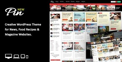 ThemeForest - Pin v5.6 - Pinterest Style / Personal Masonry Blog / Front-end Submission - 10272975