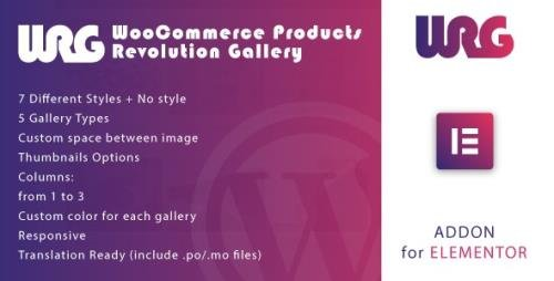 CodeCanyon - Woocommerce Products Revolution Gallery for Elementor WordPress Plugin v1.0 - 34038725