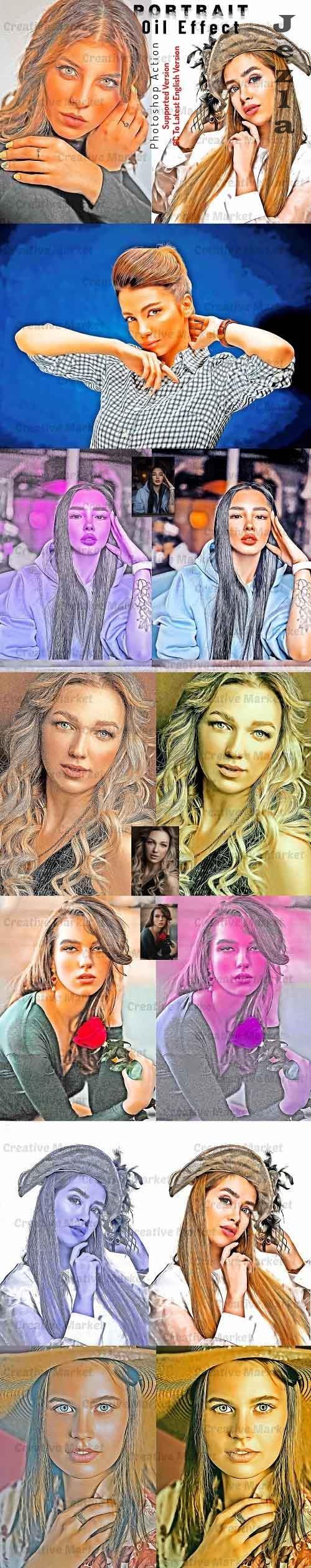 Portrait Oil Effect Photoshop Action - 6536922