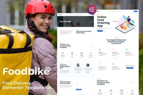 ThemeForest - Foodbike v1.0.0 - Food Delivery Elementor Template Kit - 33941556