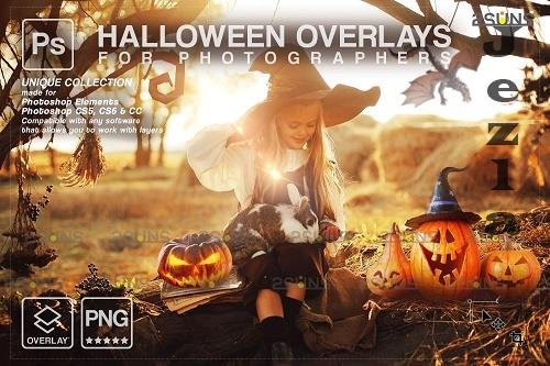 Halloween clipart Halloween overlay, Photoshop overlay V16 - 1584034
