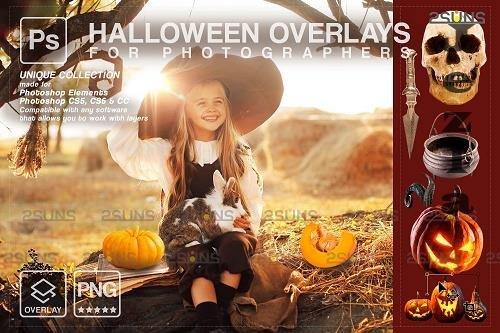 Halloween clipart Halloween overlay, Photoshop overlay V17 - 1584035