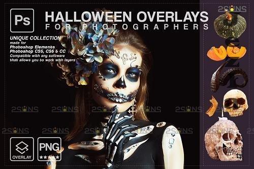 Halloween clipart Halloween overlay, Photoshop overlay V19 - 1584043