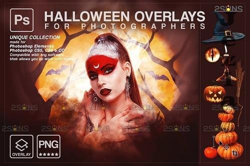 Halloween clipart Halloween overlay, Photoshop overlay V24 - 1584057