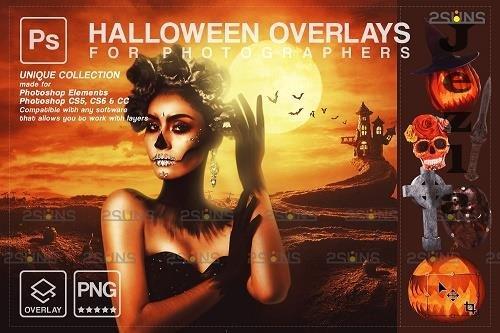 Halloween clipart Halloween overlay, Photoshop overlay V23 - 1584056