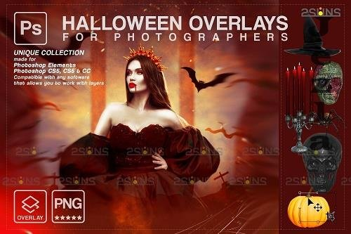 Halloween clipart Halloween overlay, Photoshop overlay V25 - 1584058