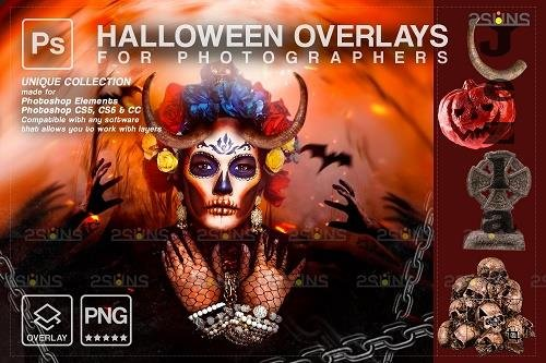 Halloween clipart Halloween overlay, Photoshop overlay V26 - 1584059