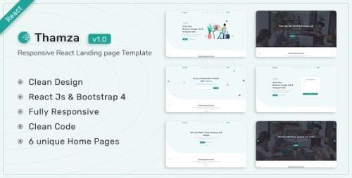 ThemeForest - Thamza v1.0 - React Js Landing Page Template - 34023469