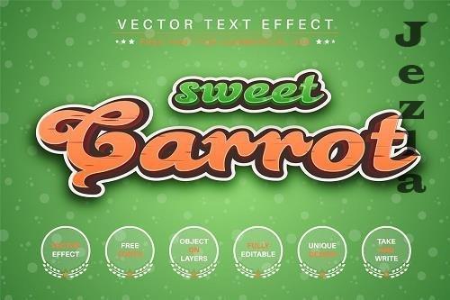 Sweet Carrot - Editable Text Effect - 6549961
