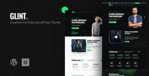 ThemeForest - Glint v1.0.0 - Personal Portfolio WordPress Theme - 25394376