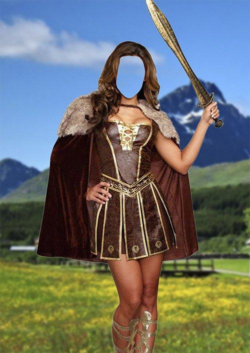 Костюм для фотомонтажа — Принцесса викингов