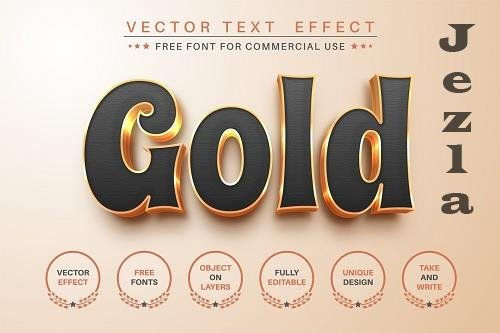 Gold - Editable Text Effect - 6551344