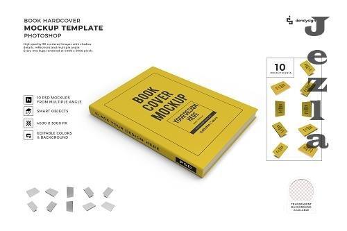 Book Hardcover 3D Mockup Template Bundle - 1617746
