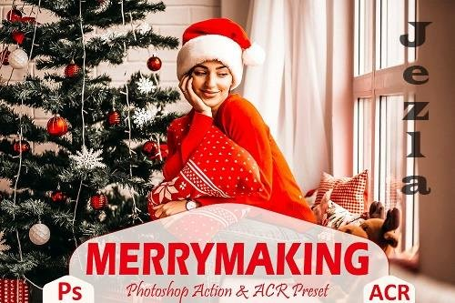 12 Merrymaking Photoshop Actions And ACR Presets - 1608746