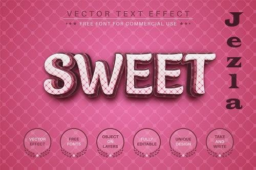 Sweet - editable text effect - 6554015
