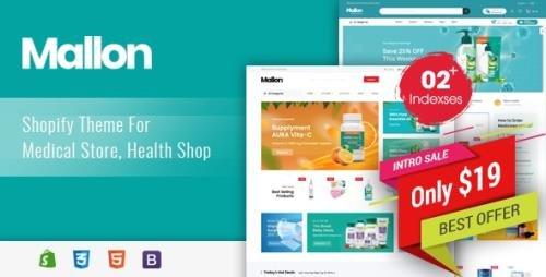 ThemeForest - Mallon v1.0.0 - Medical Store, Health Shop eCommerce Shopify Theme - 33983977