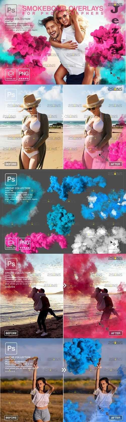 Gender reveal smoke photoshop overlay & Pink smoke bomb - 1612660