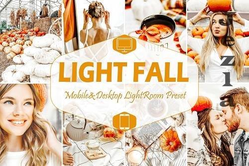 10 Light Fall Mobile & Desktop Lightroom Presets - 1602142