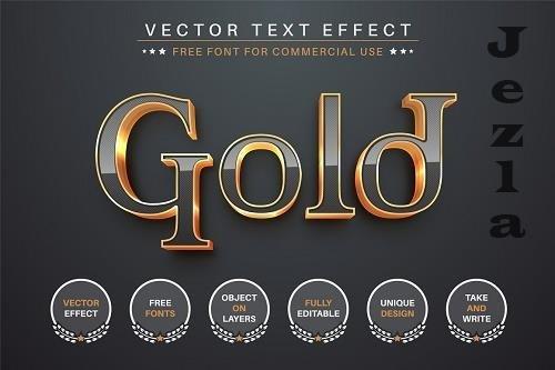 Dark Gold - Editable Text Effect - 6551497