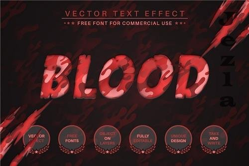 Blood Paper - Editable Text Effect - 6559290
