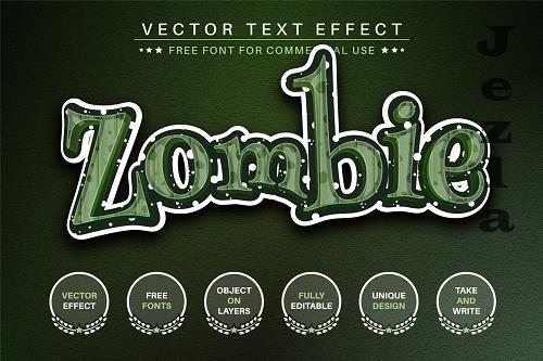 Zombie Sticker Editable Text Effect - 6559354