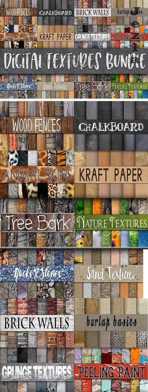 Digital Textures Bundle - 180 Papers - 2518398
