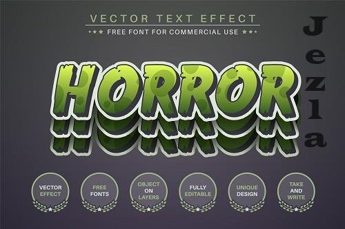 Horror Sticker Editable Text Effect - 6560297