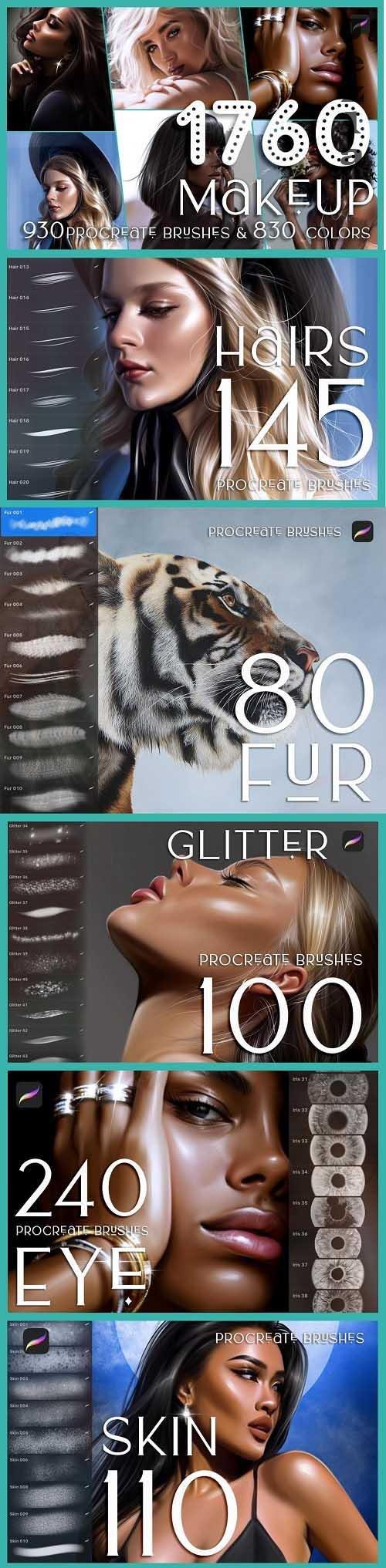 1760 Procreate Makeup Brushes - 6281796