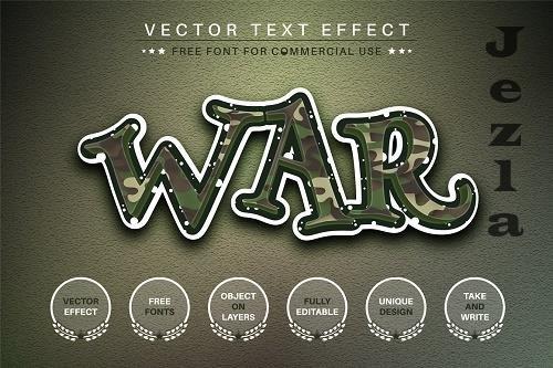 War Editable Text Effect, Font Style - 6561155