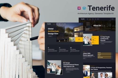 ThemeForest - Tenerife v1.0.0 - Architecture Agency Elementor Template Kit - 34122508