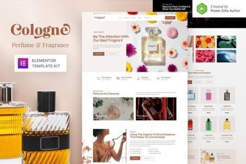 ThemeForest - Cologne v1.0.0 - Perfume & Fragrance Elementor Template Kit - 34127640