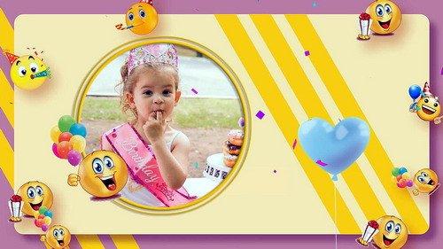 Проект ProShow Producer - Emoji Happy Birthday