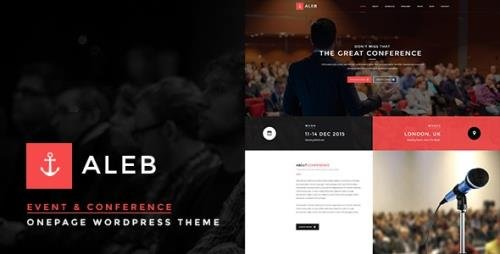 ThemeForest - Event WordPress Theme for Conference Marketing - Aleb v1.3.8 - 13429442