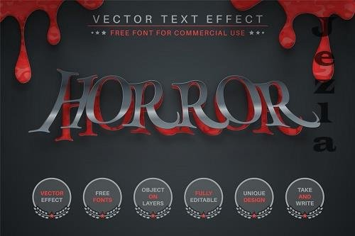 Paper Blood - Editable Text Effect - 6561440