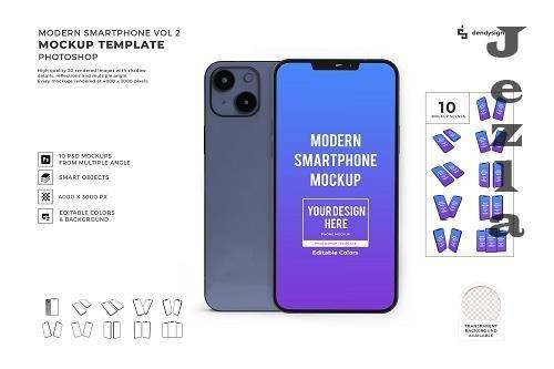 iPhone 13 Smartphone 3D Mockup Template Bundle Vol 2 - 1624926