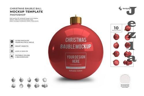 Christmas Bauble Ball 3D Mockup Template Bundle - 1625652