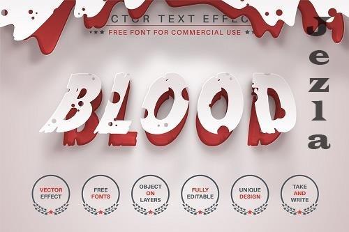 Blood - Editable Text Effect - 6565590