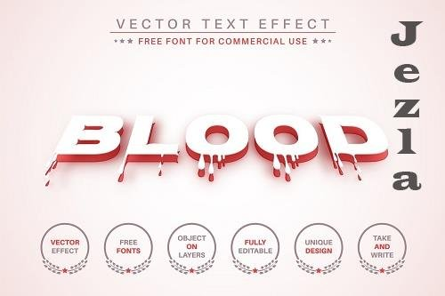Paper Blood - Editable Text Effect - 6565847