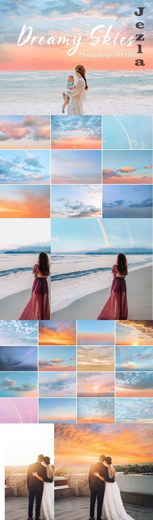 30 Dreamy Pastel Sky Overlays - 6252243