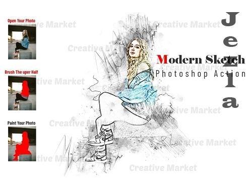 Modern Sketch Photoshop Action - 6565744