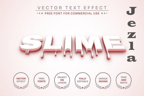 Blood Slime - Editable Text Effect - 6567195