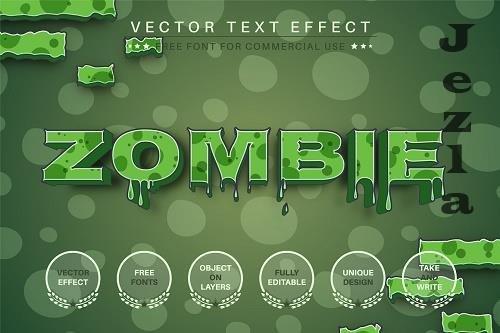 Zombie 3D - Editable Text Effect - 6569516