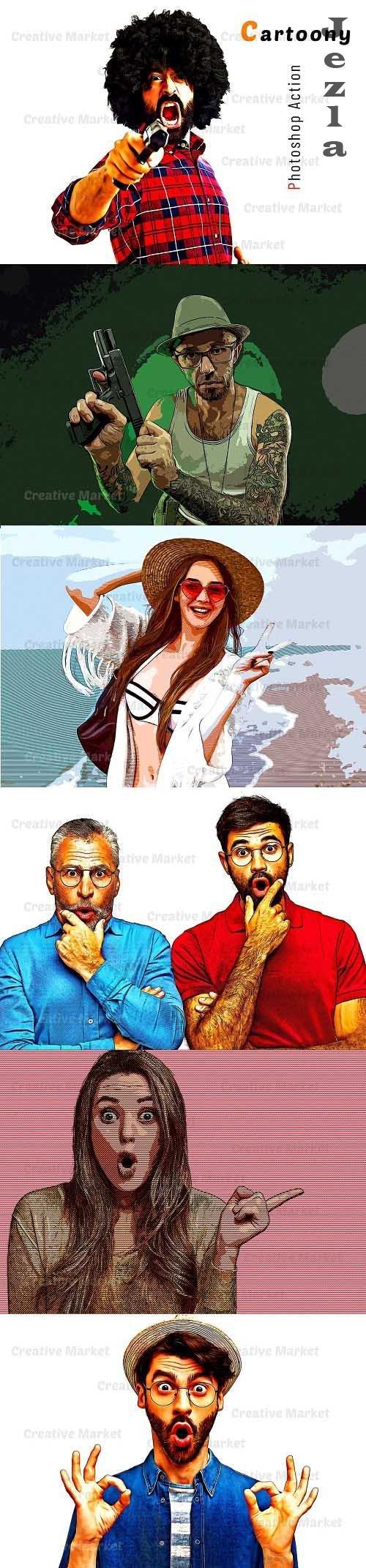 Cartoony Photoshop Action - 6567073