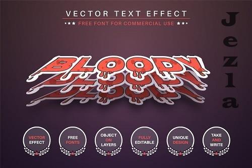 Three Blood - Editable Text Effect - 6571701
